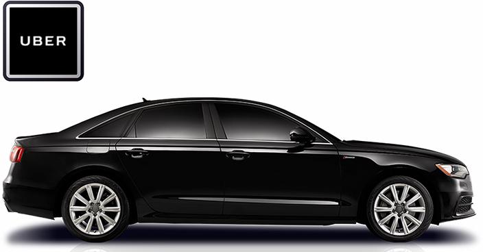 Uber car & logo