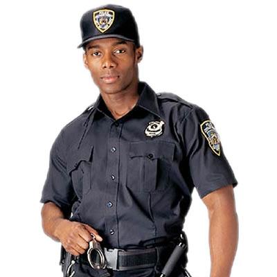 Black security guard