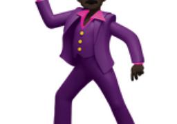 Black man dancing emoji