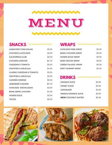 On a menu called life by miriam mukasa for X cuisine miri menu